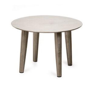 שולחן קפה מברזל – צבע אלומיניום